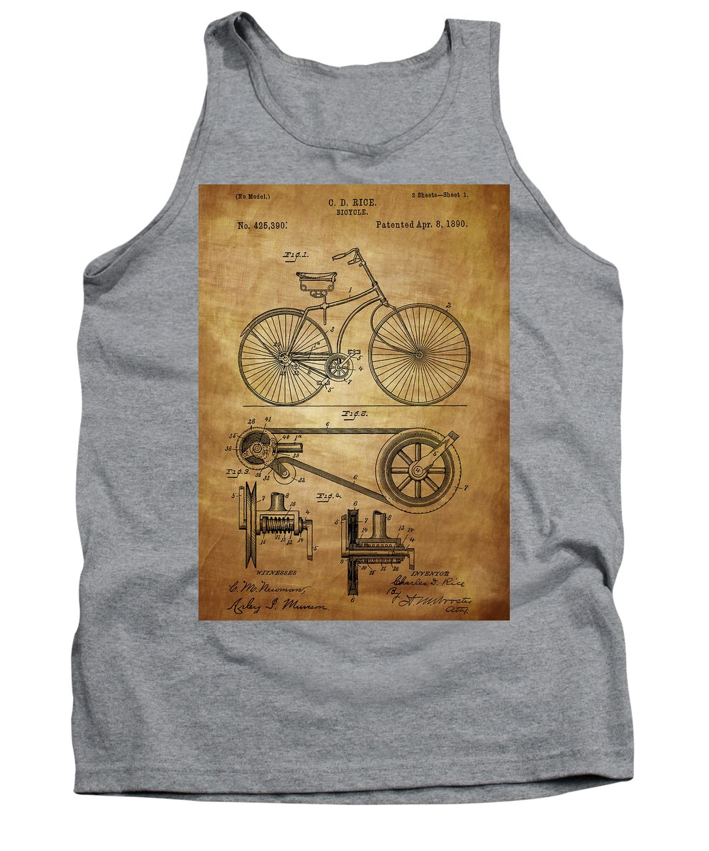 Bicycle Tank Top featuring the photograph Bicycle Patent by Chris Smith