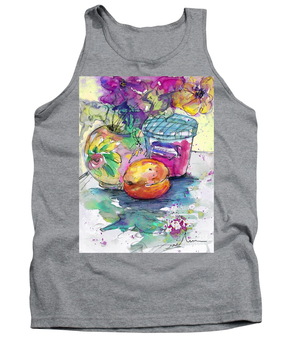 Still Life Tank Top featuring the painting Big Marmalade by Miki De Goodaboom