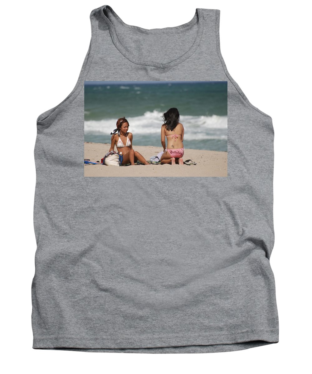 Sea Scape Tank Top featuring the photograph Billabong Girls by Rob Hans