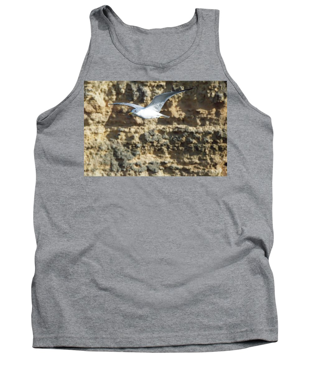 Nature Tank Top featuring the photograph Bird In Flight by Angel Bentley