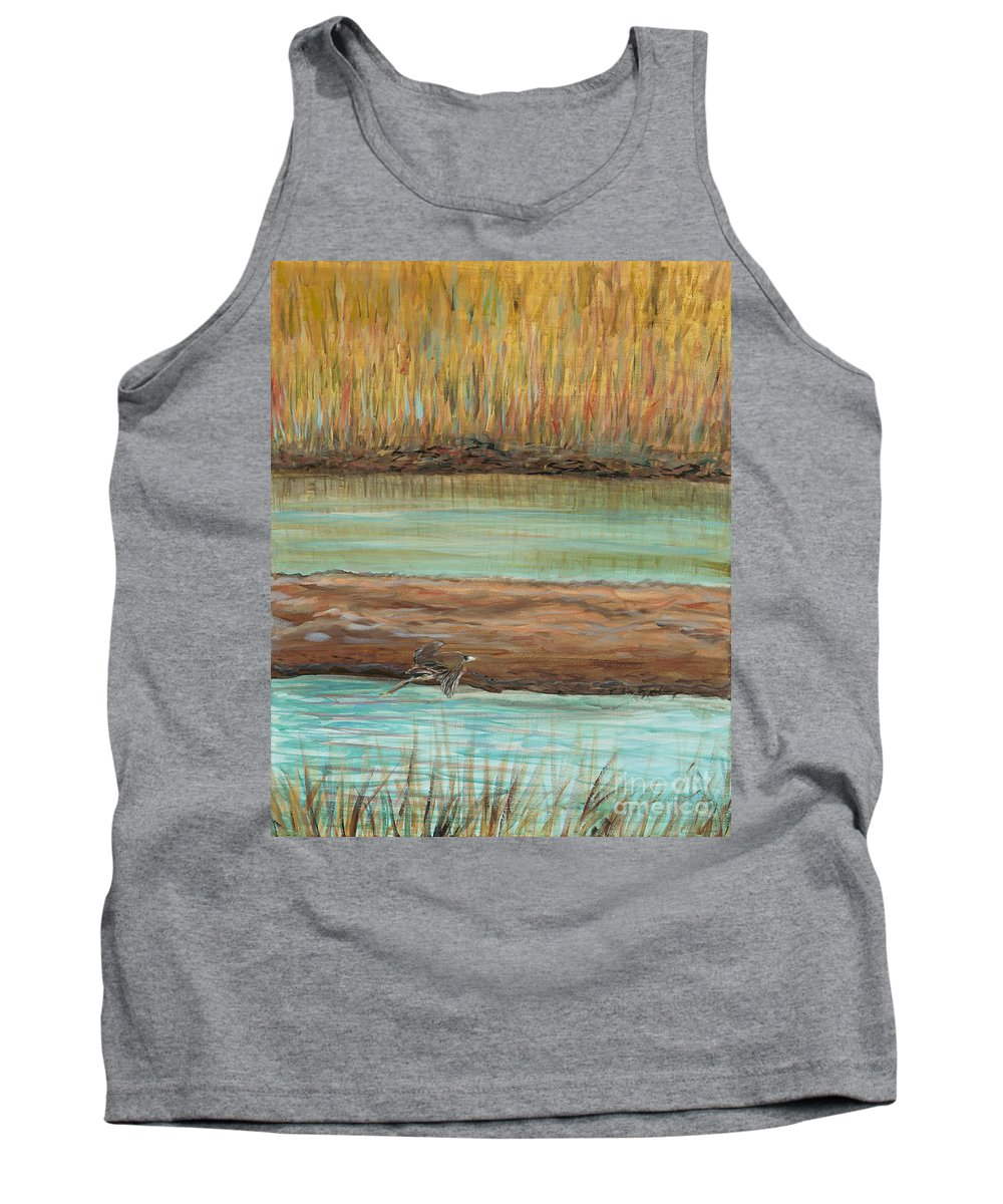 Bird Tank Top featuring the painting Bird in Flight by Nadine Rippelmeyer