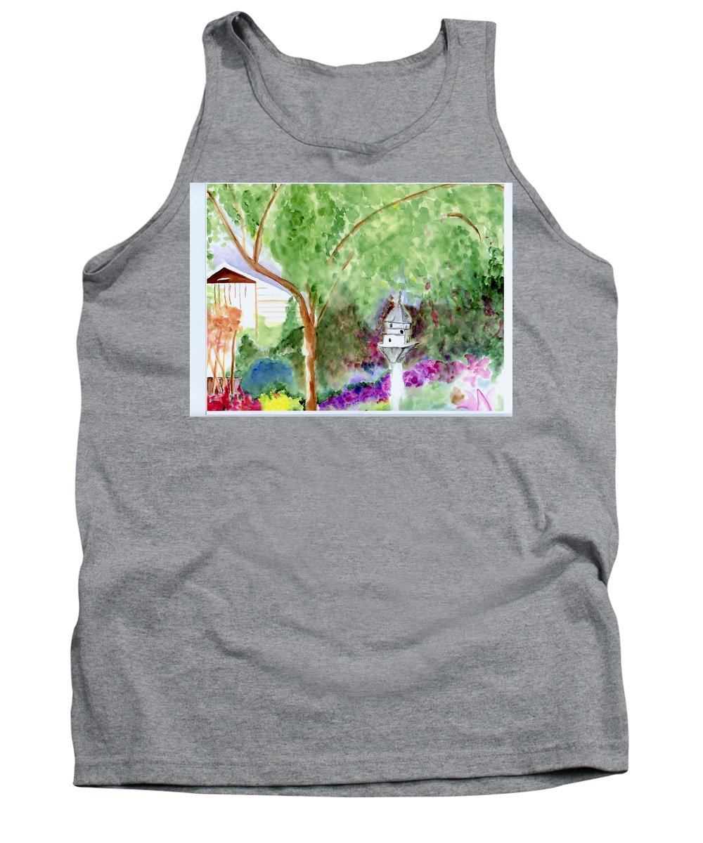 Birdhouse Tank Top featuring the painting Birdhouse by Jamie Frier