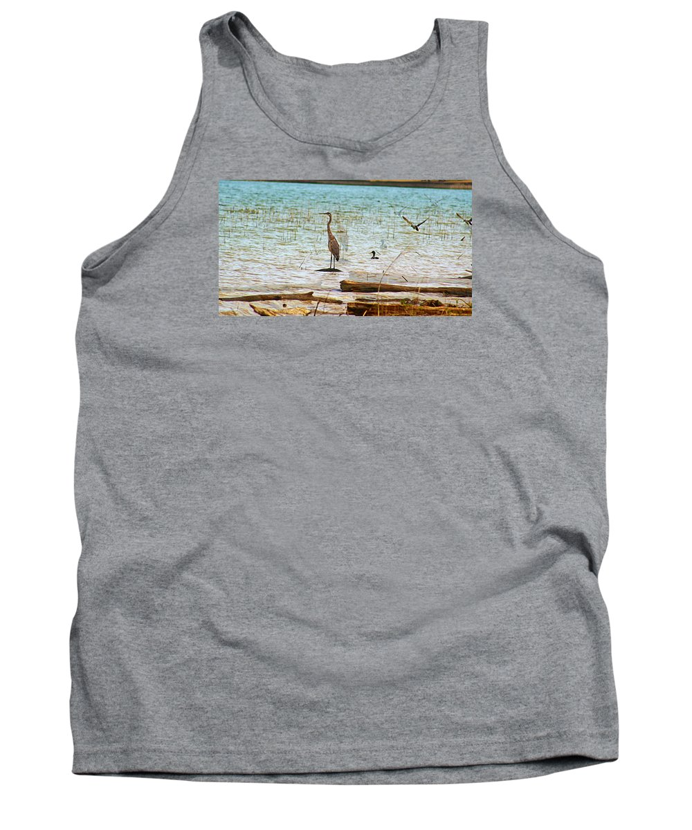 Birds Tank Top featuring the photograph Birds Reflections by Christine Townsend