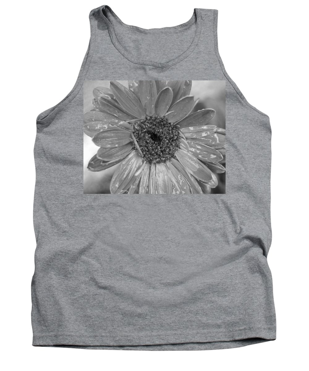 Gerber Daisy Tank Top featuring the photograph Black And White Gerbera Daisy by Amy Fose