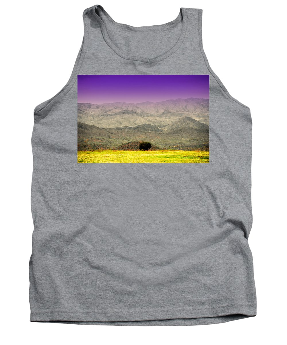Black Mountains Tank Top featuring the photograph Black Mountains Az by Susanne Van Hulst