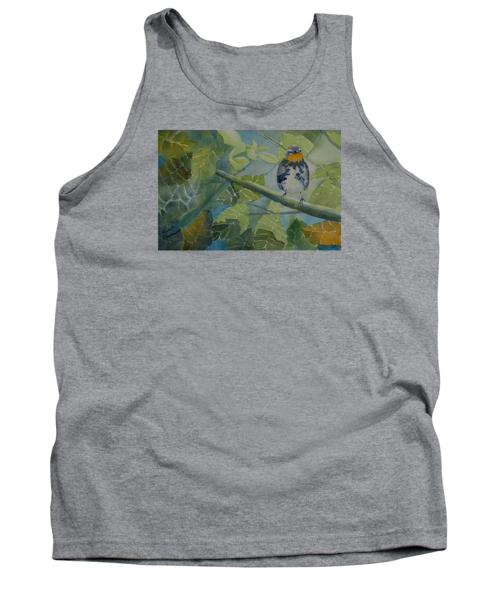 Bird Tank Top featuring the painting Blackburnian Warbler I by Ruth Kamenev
