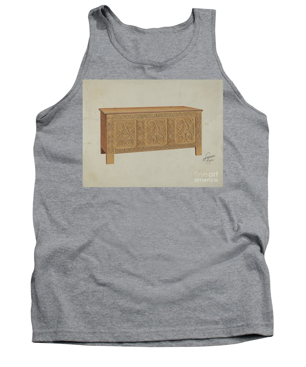 Tank Top featuring the drawing Blanket Chest by Lawrence Flynn