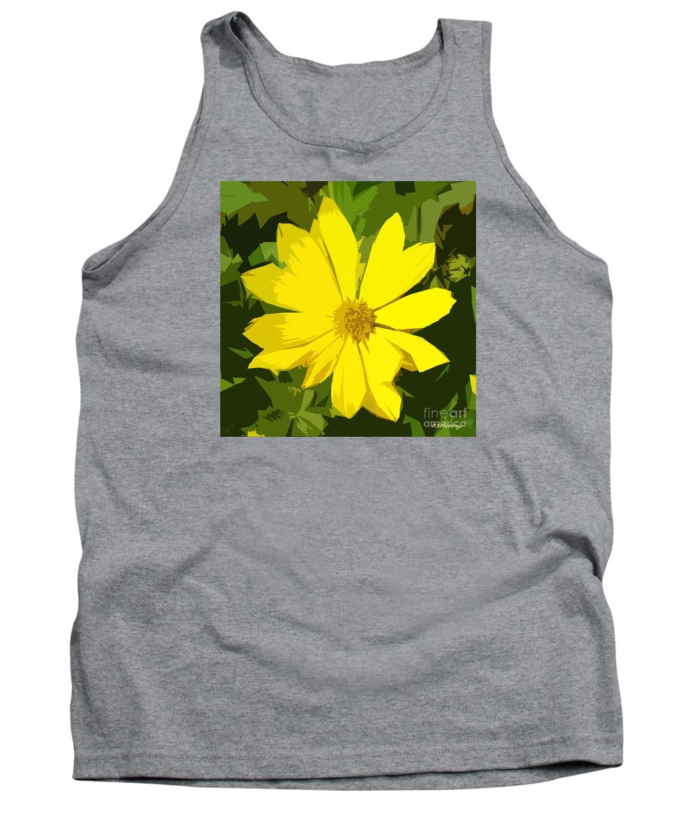 Flowers Tank Top featuring the photograph Blaze Of Yellow by Patrick J Murphy