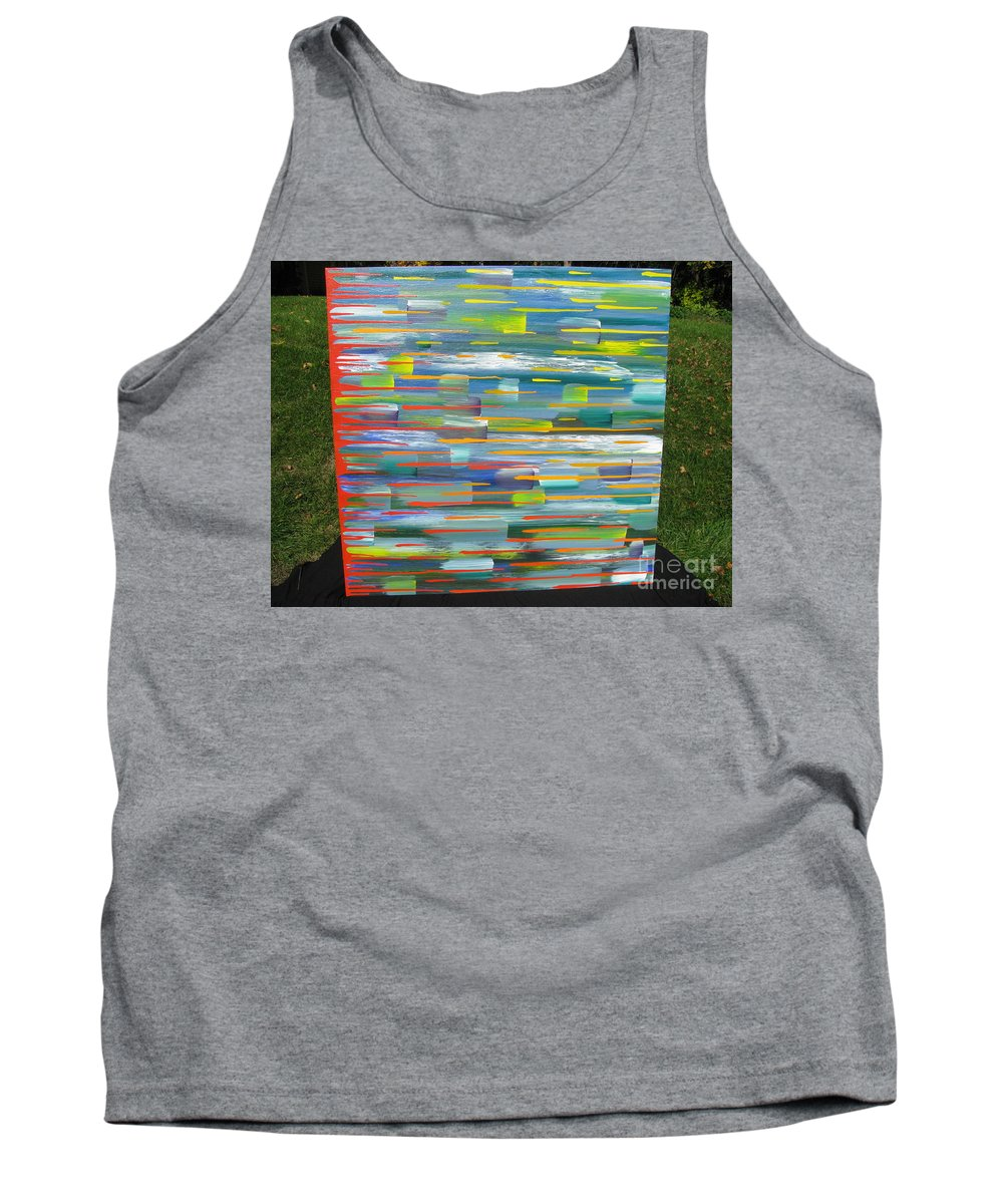 Movement Tank Top featuring the painting Blindsided by Jacqueline Athmann