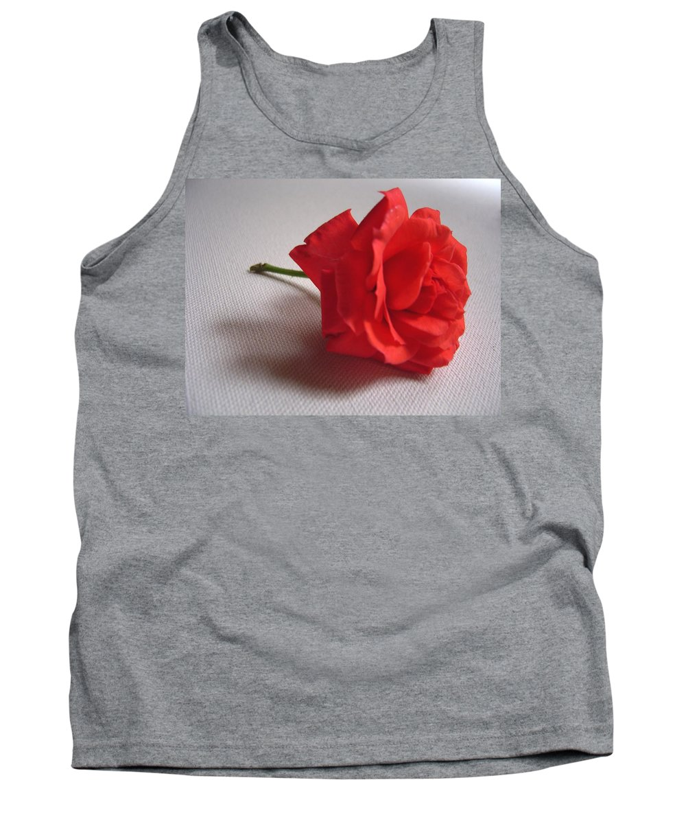 Blood Tank Top featuring the photograph Blood Red Rose by Usha Shantharam