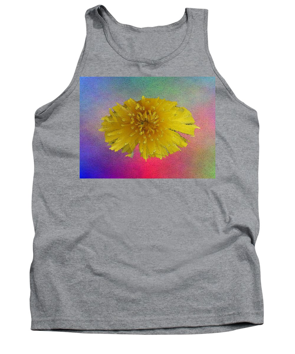 Bloom Tank Top featuring the digital art Blooming 3 by Tim Allen