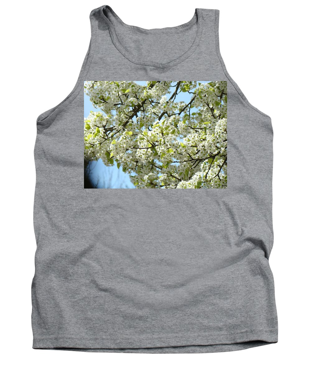 �blossoms Artwork� Tank Top featuring the photograph Blossoms Whtie Tree Blossoms 29 Nature Art Prints Spring Art by Baslee Troutman