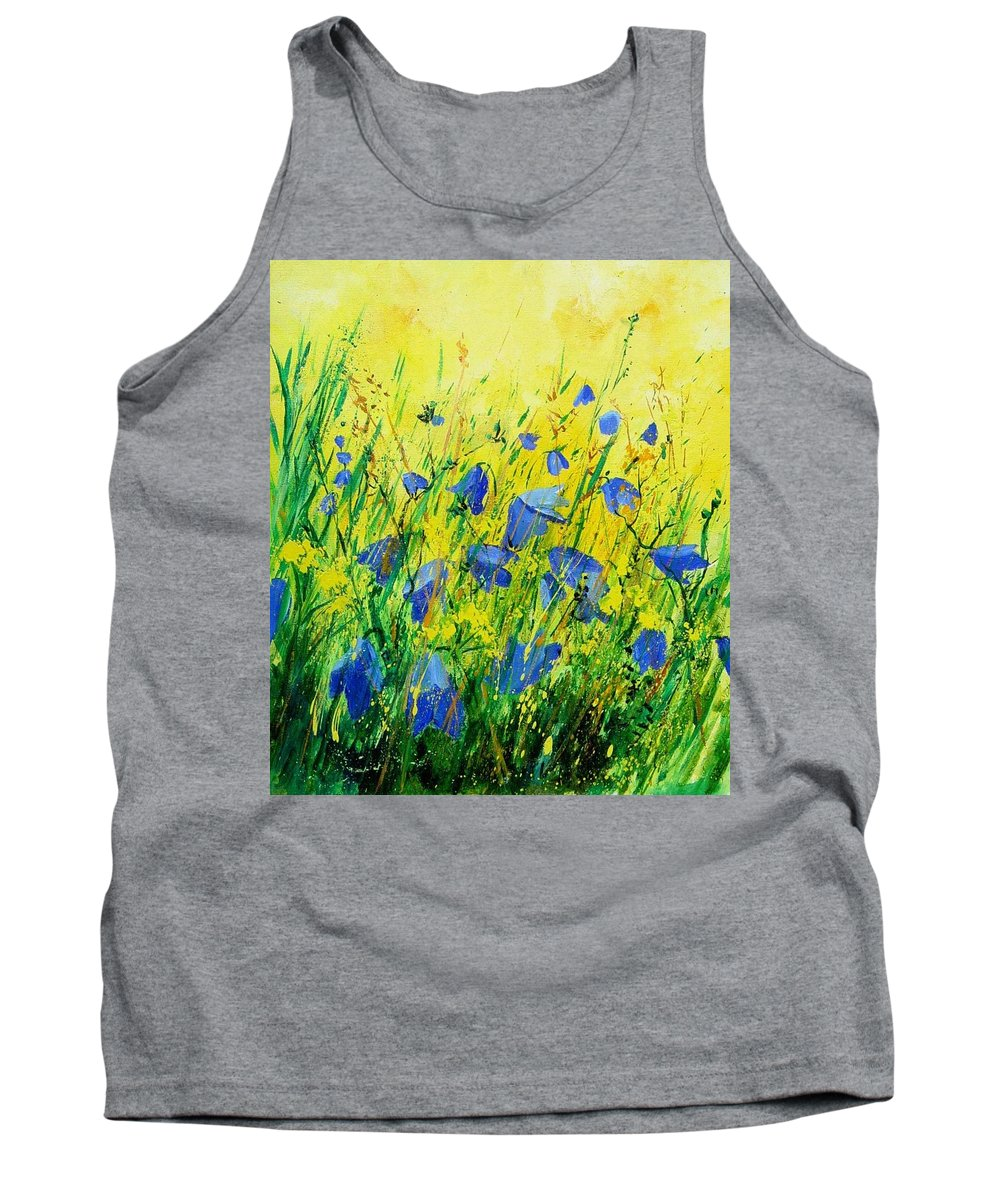 Poppies Tank Top featuring the painting Blue Bells by Pol Ledent