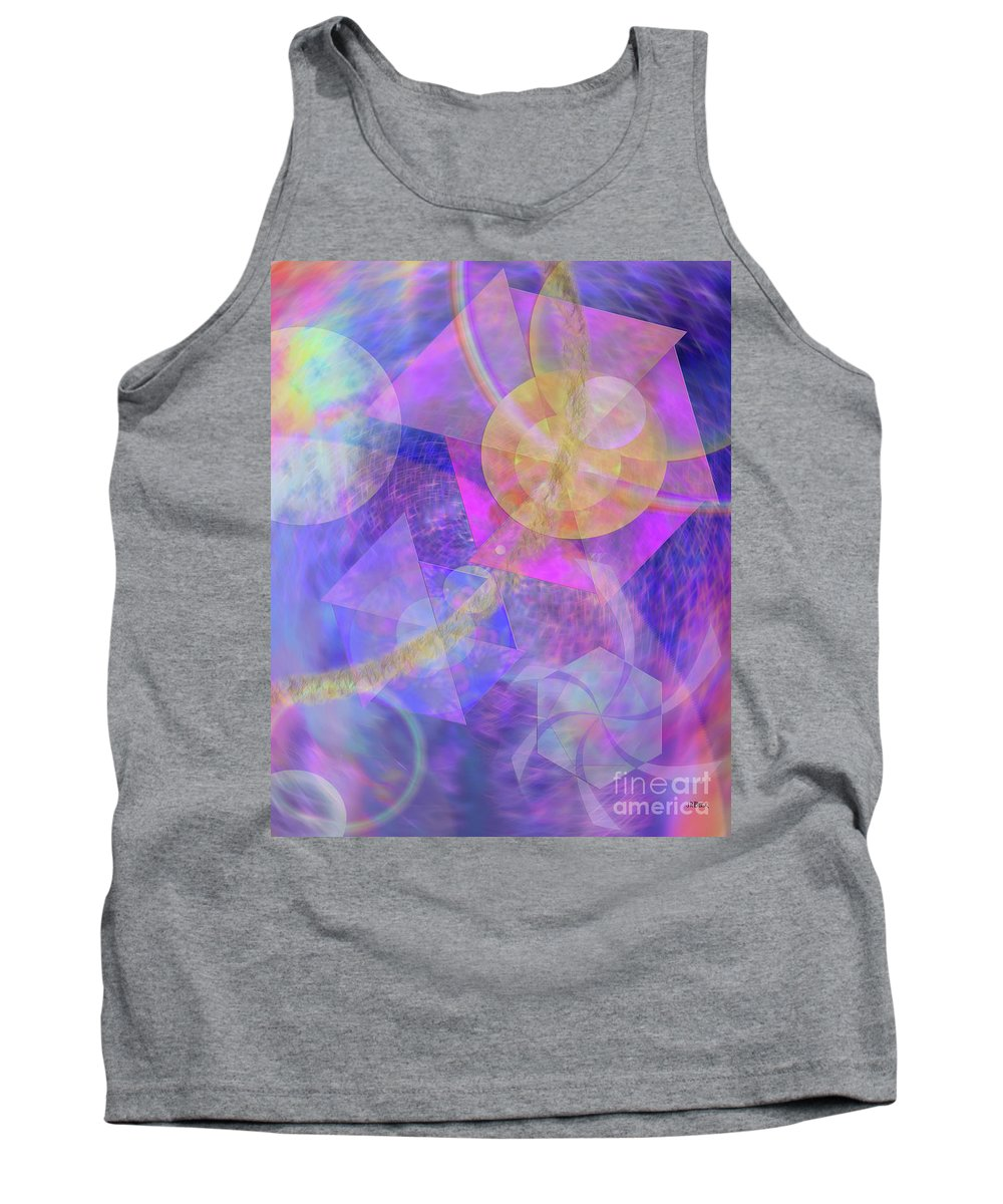 Blue Expectations Tank Top featuring the digital art Blue Expectations by John Beck