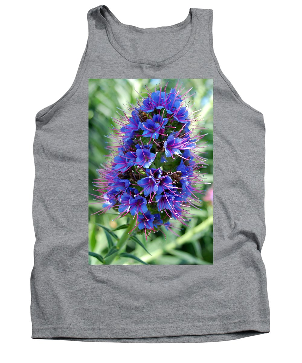Flower Tank Top featuring the photograph Blue Flowers by Amy Fose