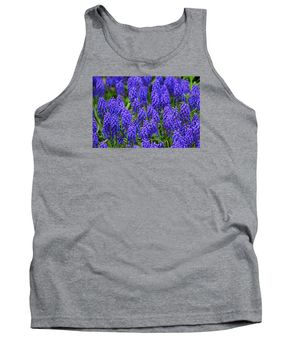 Alexandria Tank Top featuring the photograph Blue Heads by Iryna Goodall