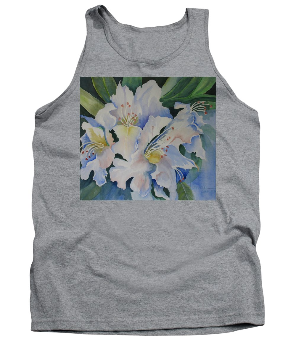 Blue Tank Top featuring the painting Blue In The Morning by Donna Steward