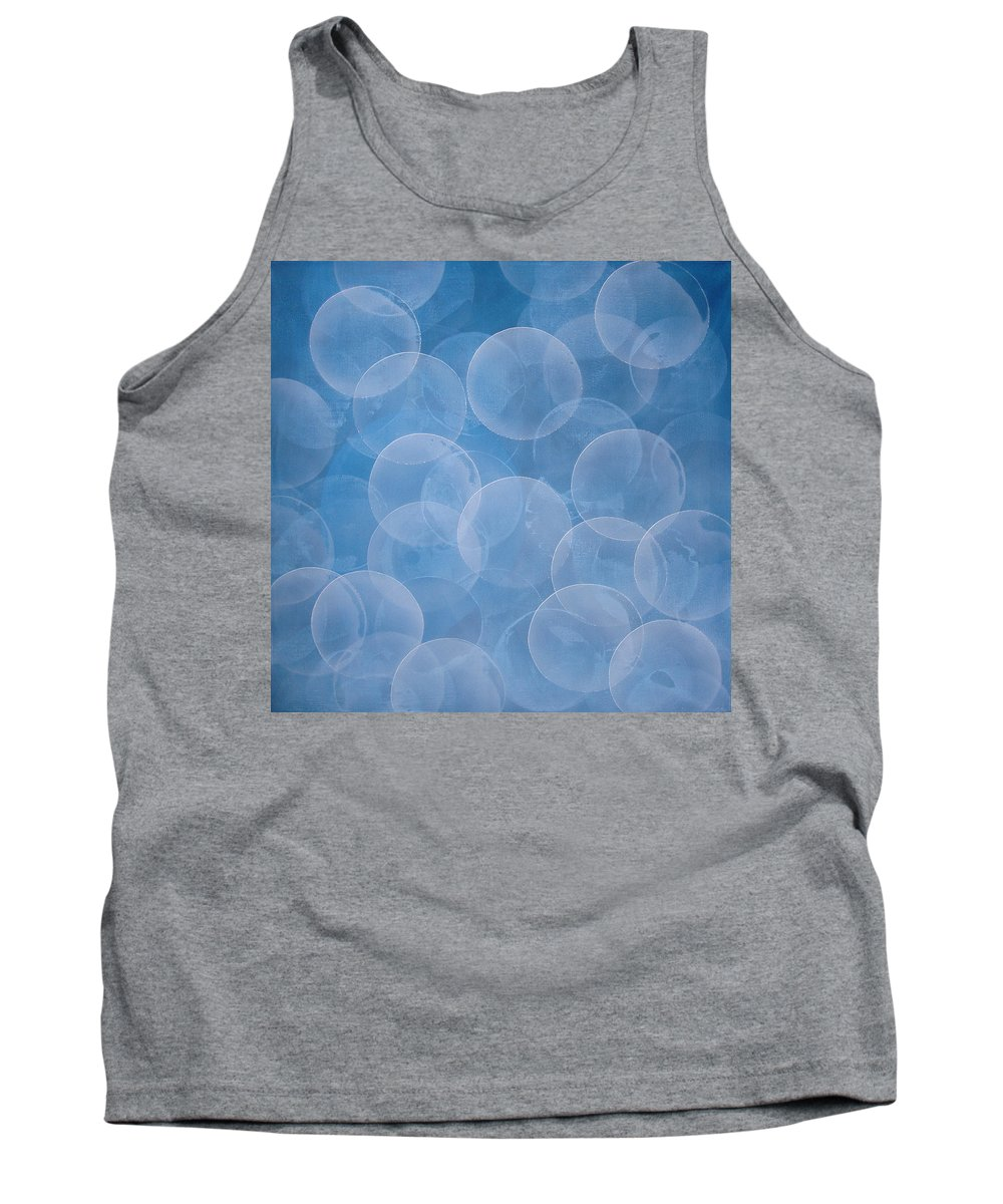 Abstract Tank Top featuring the painting Blue by Jitka Anlaufova