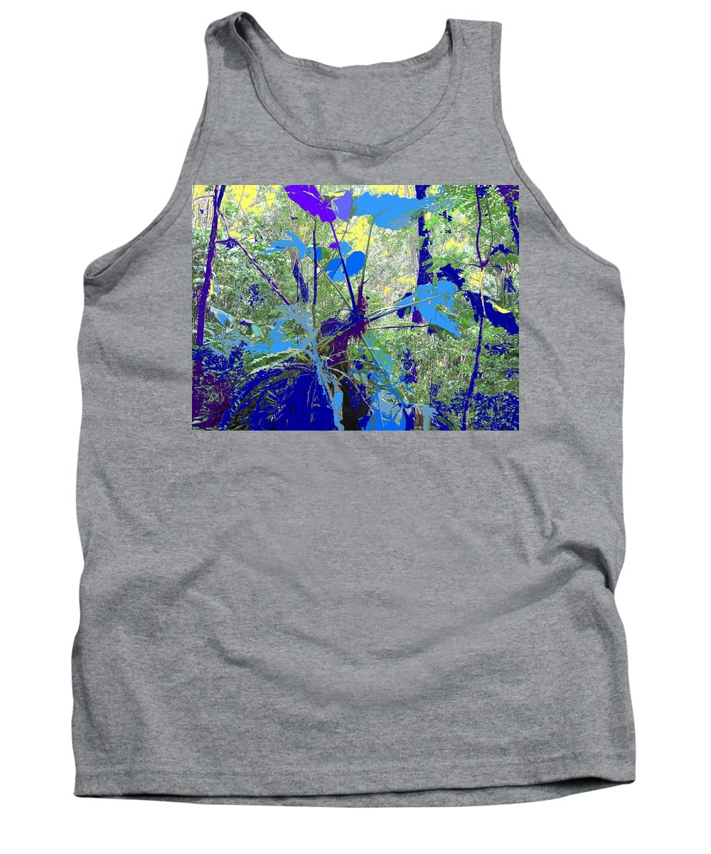 Tank Top featuring the photograph Blue Jungle by Ian MacDonald