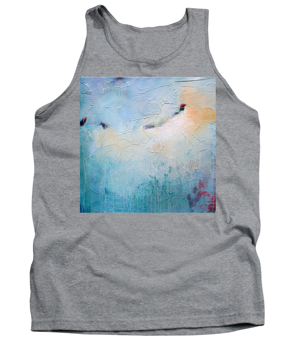 Acrylic Tank Top featuring the painting Blue Poetry by Karen Hale