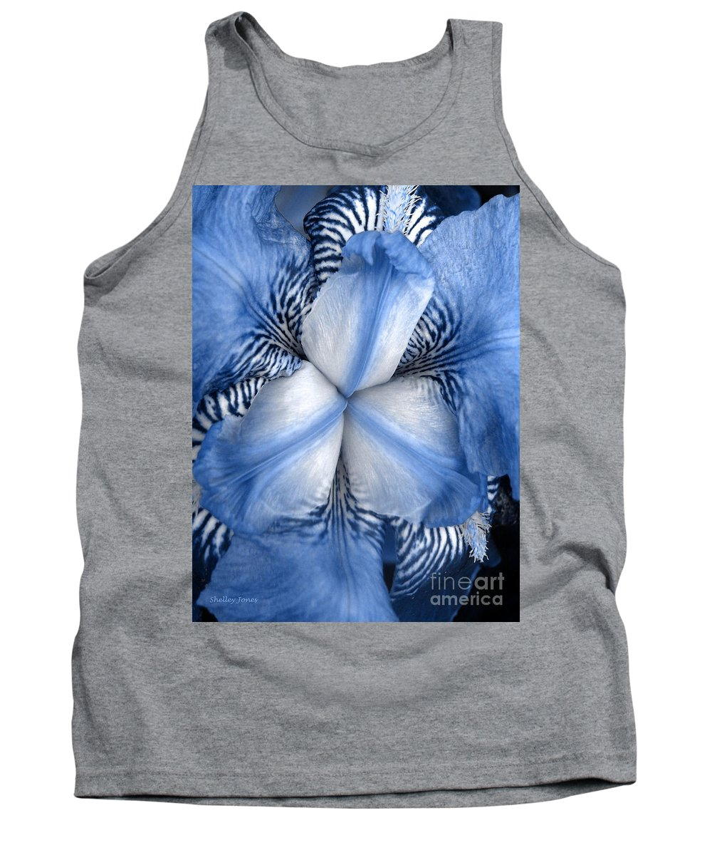 Jphotography Tank Top featuring the photograph Blue Tiger Iris by Shelley Jones