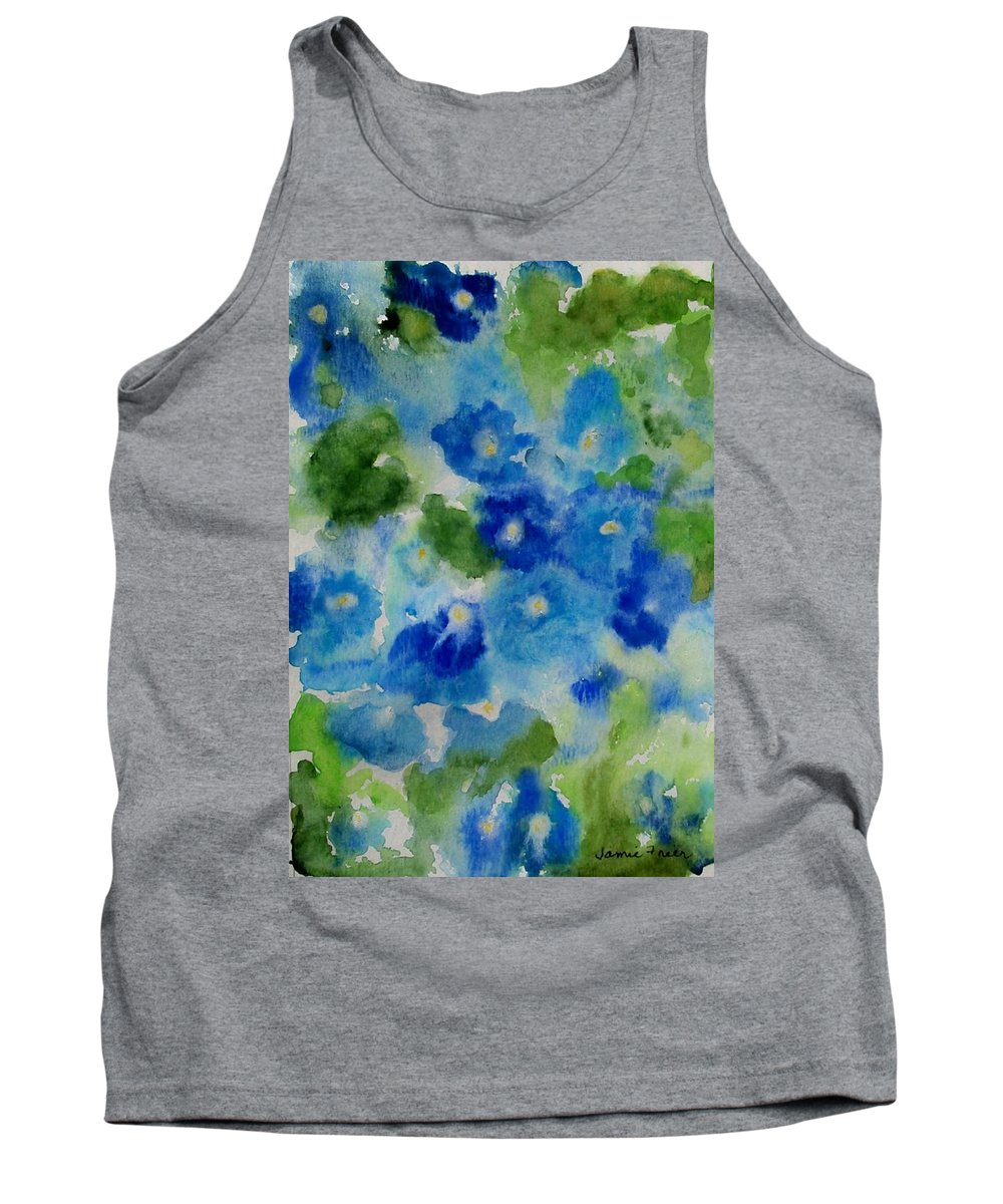Wet Tank Top featuring the painting Blue Wet On Wet by Jamie Frier