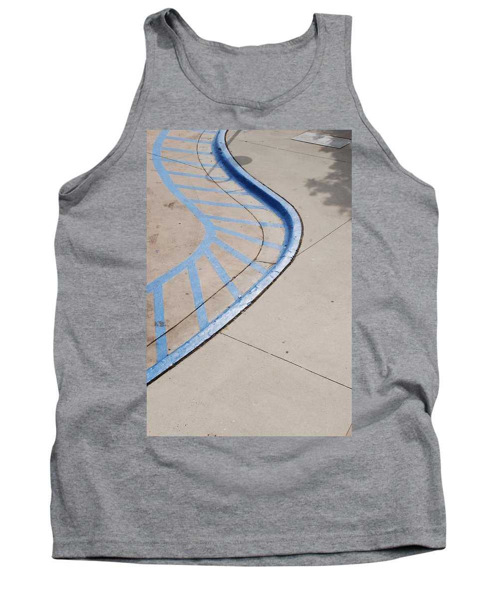 Blue Tank Top featuring the photograph Blue Zone by Rob Hans