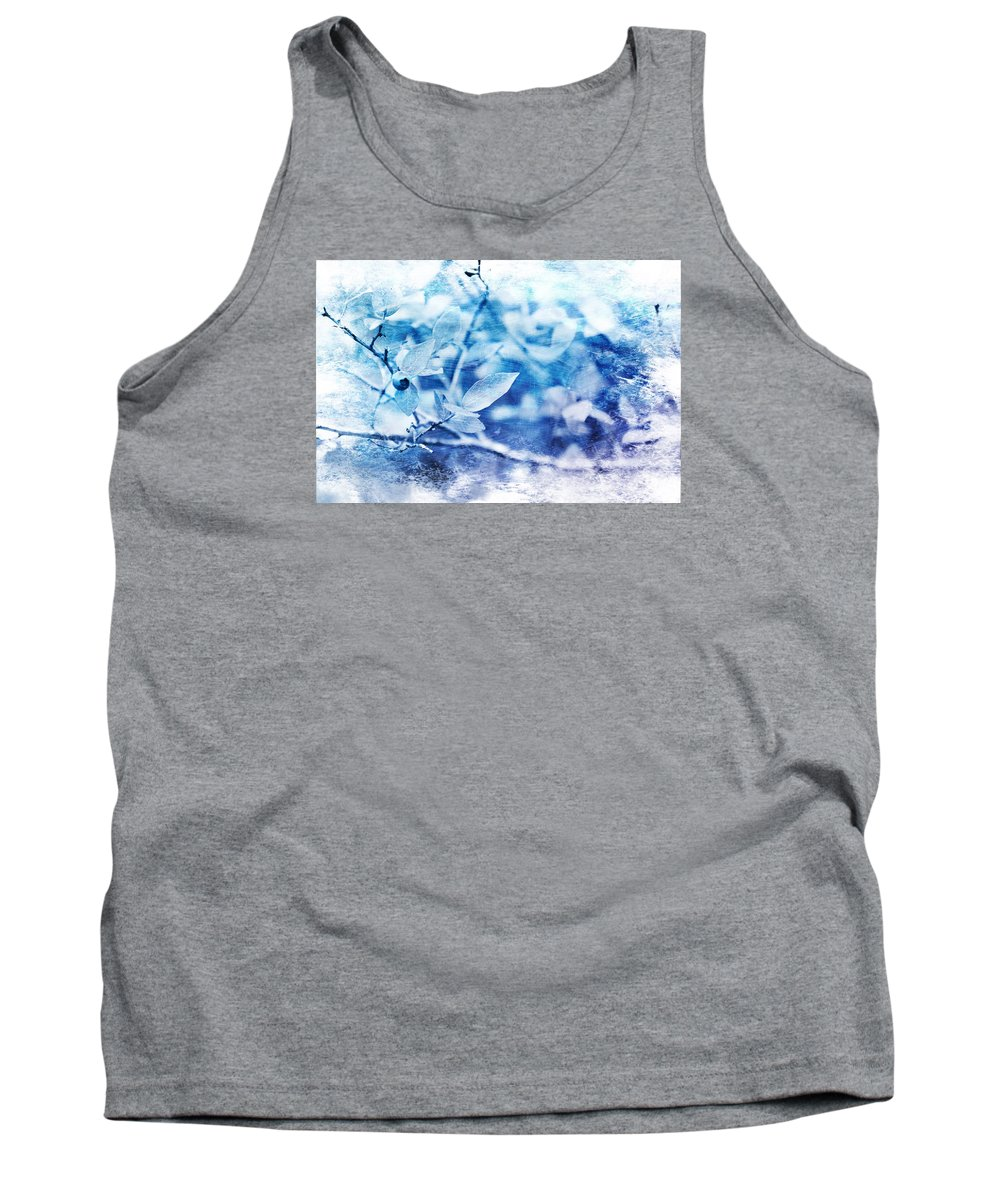 Abstract Tank Top featuring the photograph Blueberry Blues by Randi Grace Nilsberg