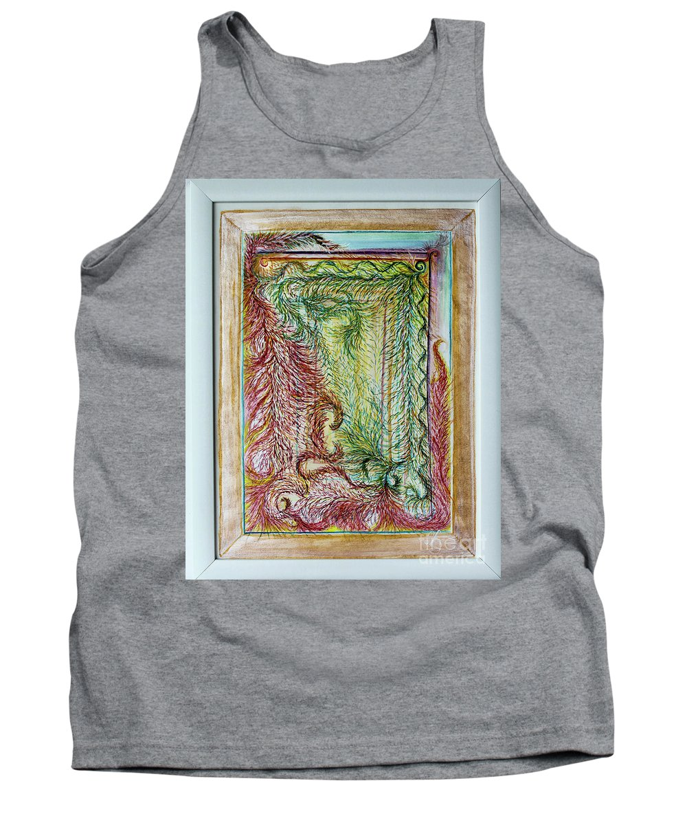 Whimsical Tank Top featuring the painting Boa Box by Mary Shawn Newins