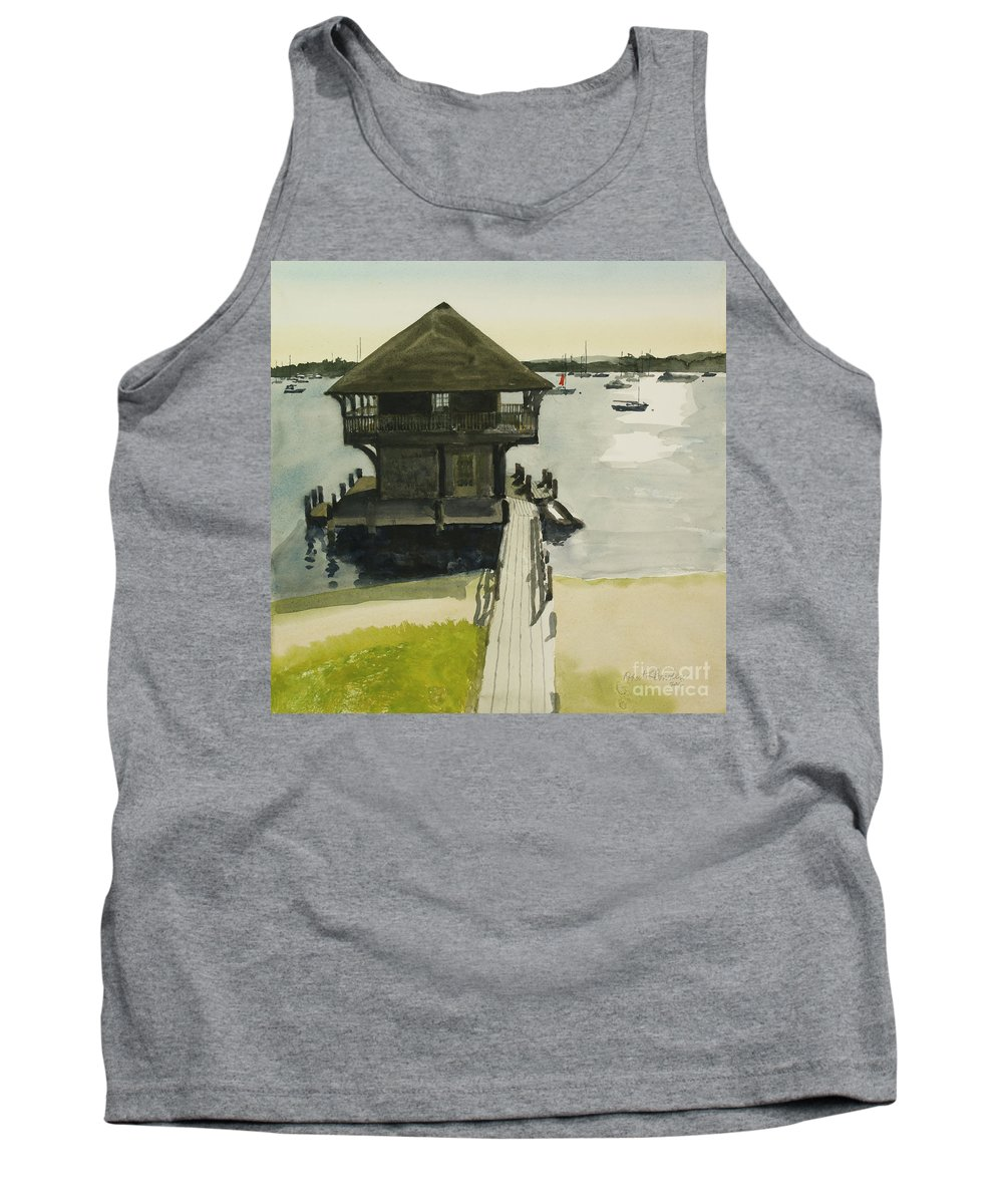 Martha Tank Top featuring the painting Boathose, Edgartown, Martha's Vineyard by Robert Bowden