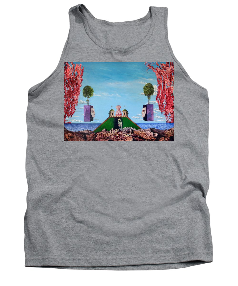 Painting Tank Top featuring the painting Bogomils Monastic Retreat by Otto Rapp