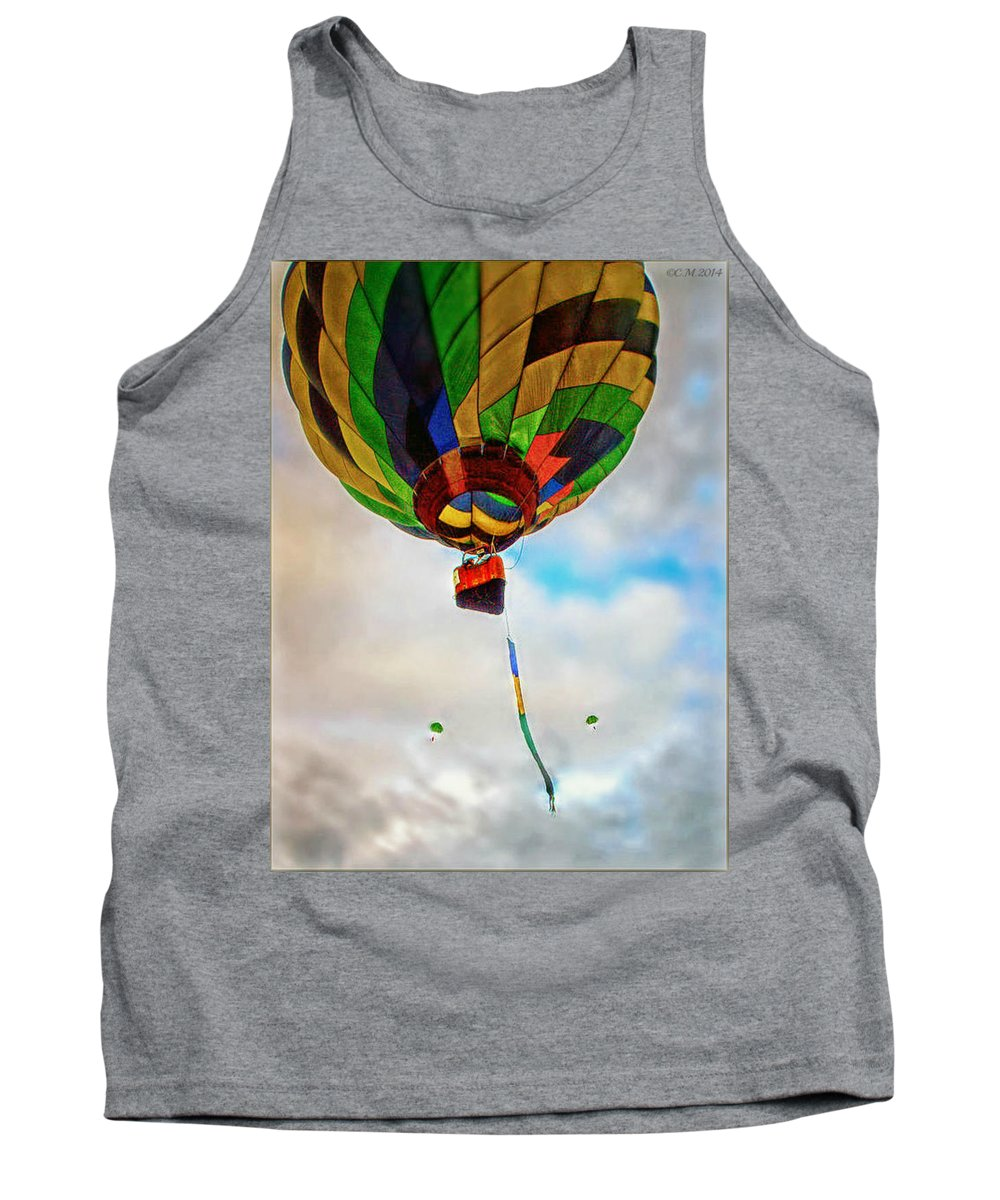 Hot Air Balloon Tank Top featuring the photograph Bon Voyage by Catherine Melvin