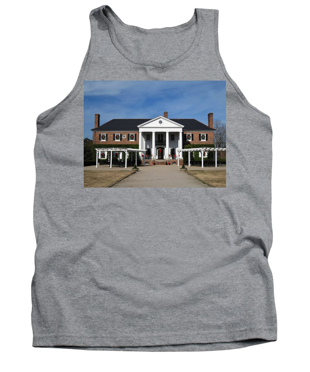 Photography Tank Top featuring the photograph Boone Hall Plantation Charleston Sc by Susanne Van Hulst