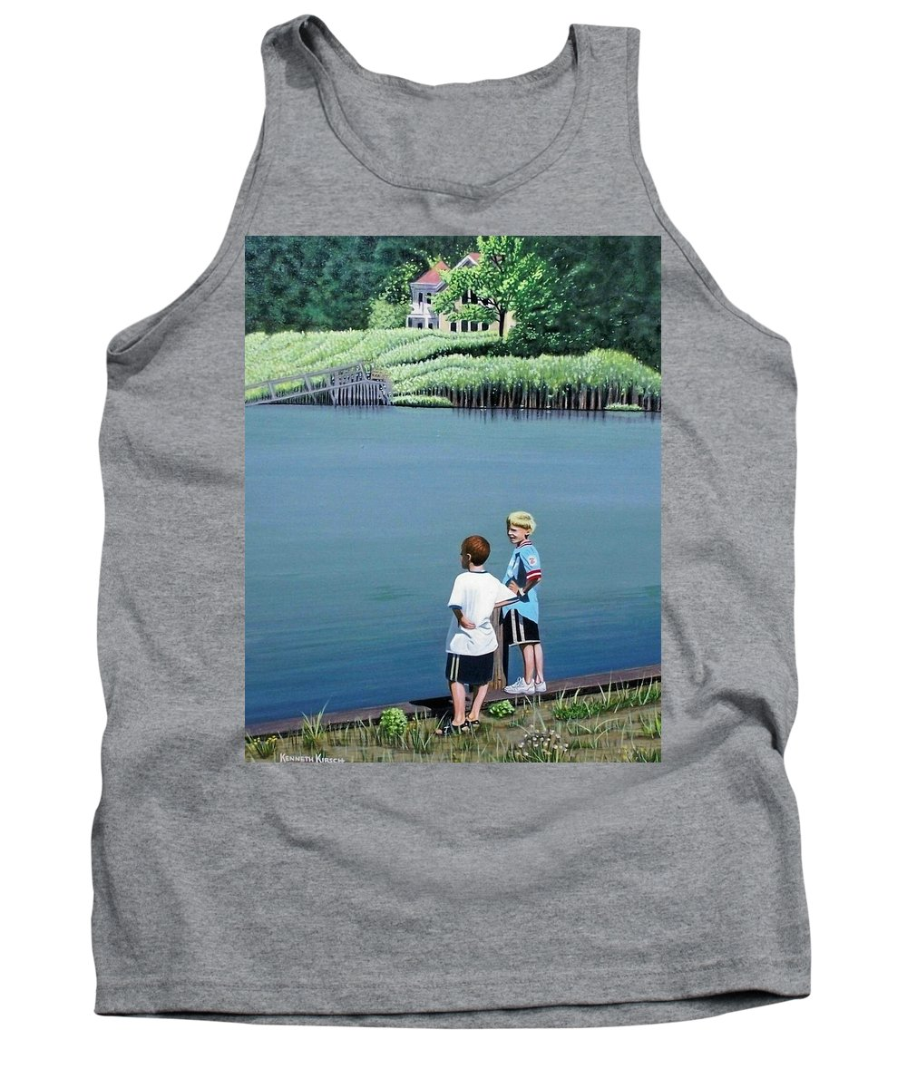 Landscape Tank Top featuring the painting Boys Of Summer by Kenneth M Kirsch