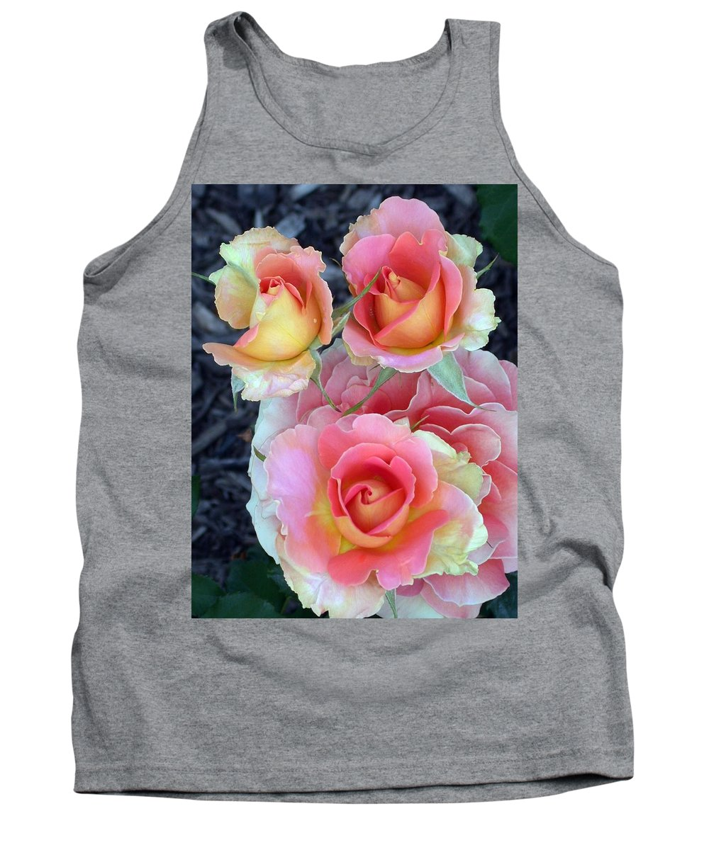 Brass Band Roses Tank Top featuring the photograph Brass Band Roses by Living Color Photography Lorraine Lynch