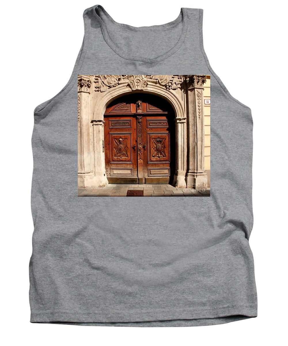 Doors Tank Top featuring the photograph Bratislava Doors by Thomas Marchessault