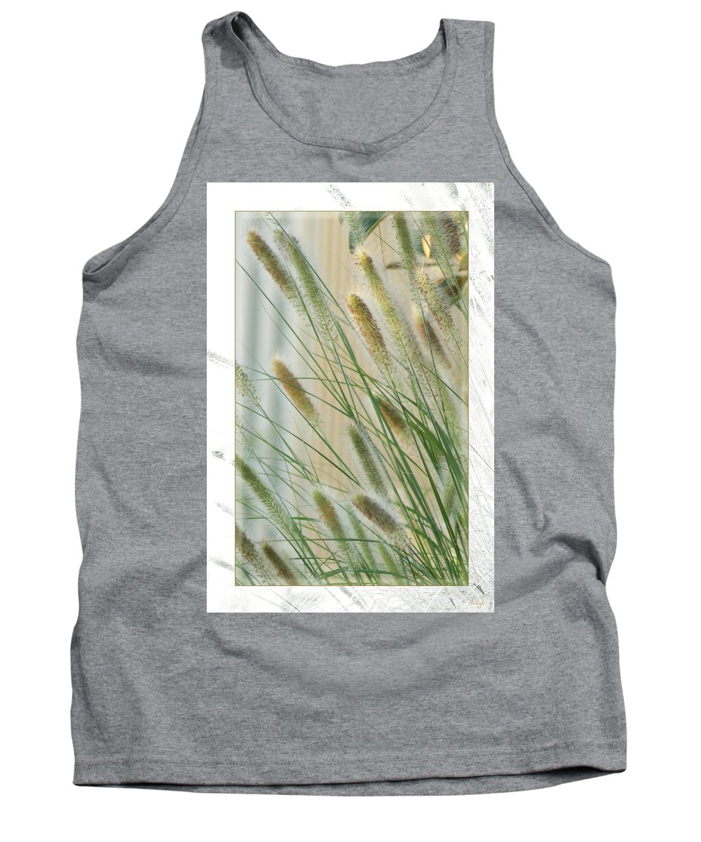 Floral Tank Top featuring the photograph Breeze by Holly Kempe