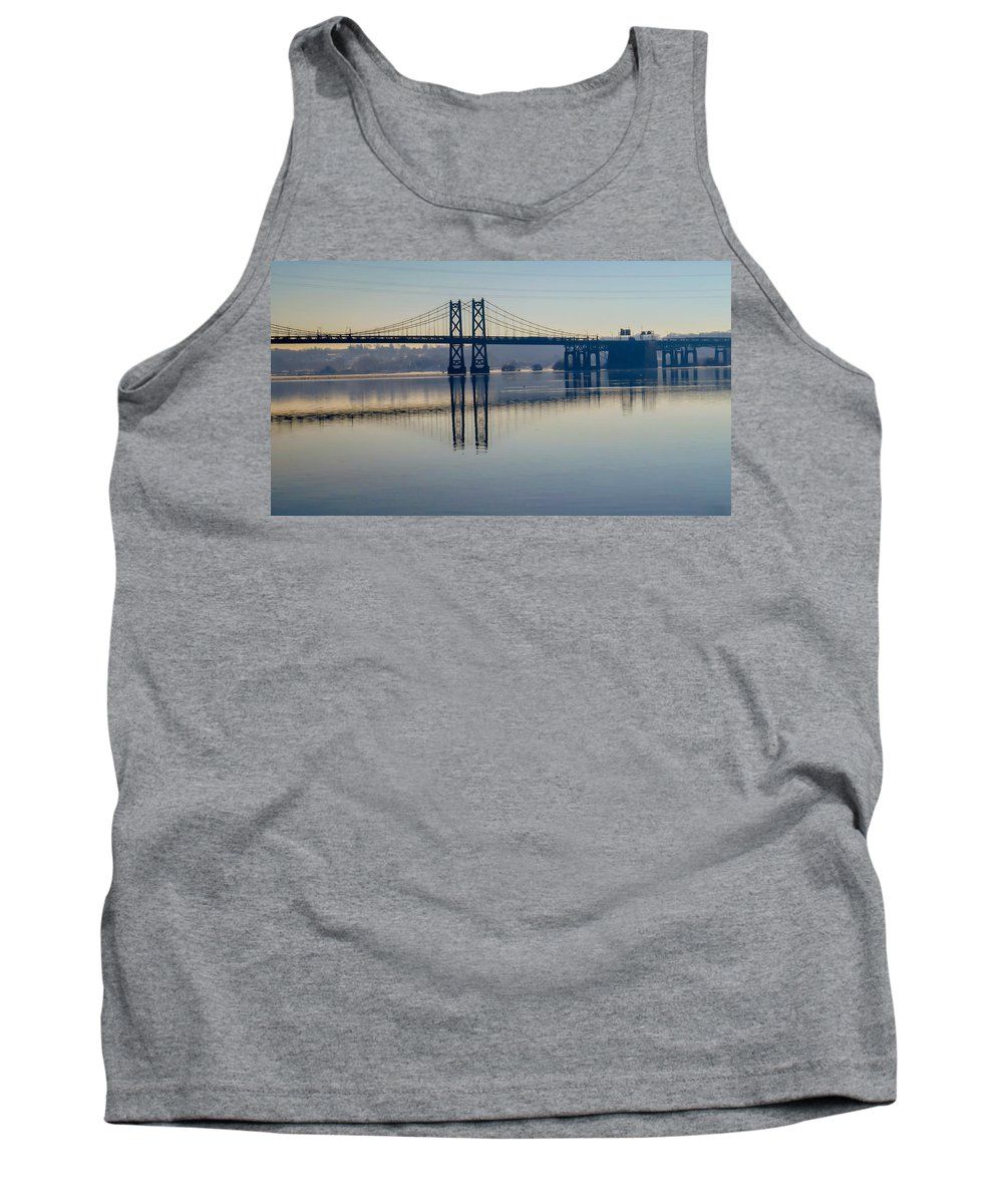 Bridge Tank Top featuring the photograph Bridge Over The Mississippi by Deb Fedeler