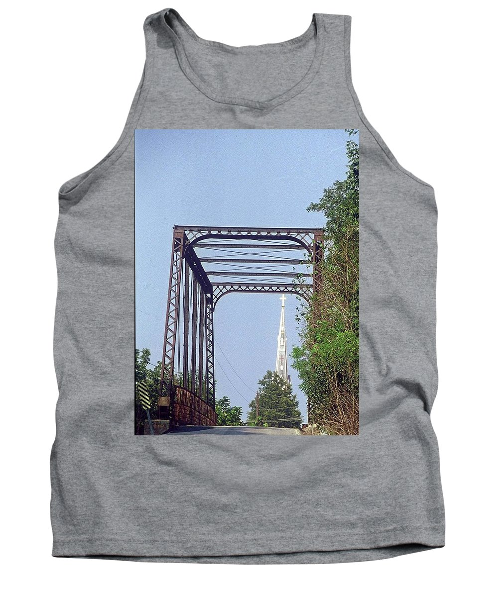 Church Tank Top featuring the photograph Bridge To God by Gary Wonning