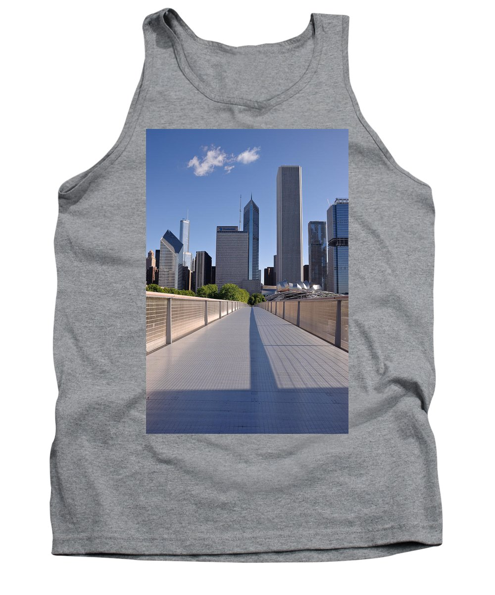 Art Tank Top featuring the photograph Bridgeway To Chicago by Steve Gadomski