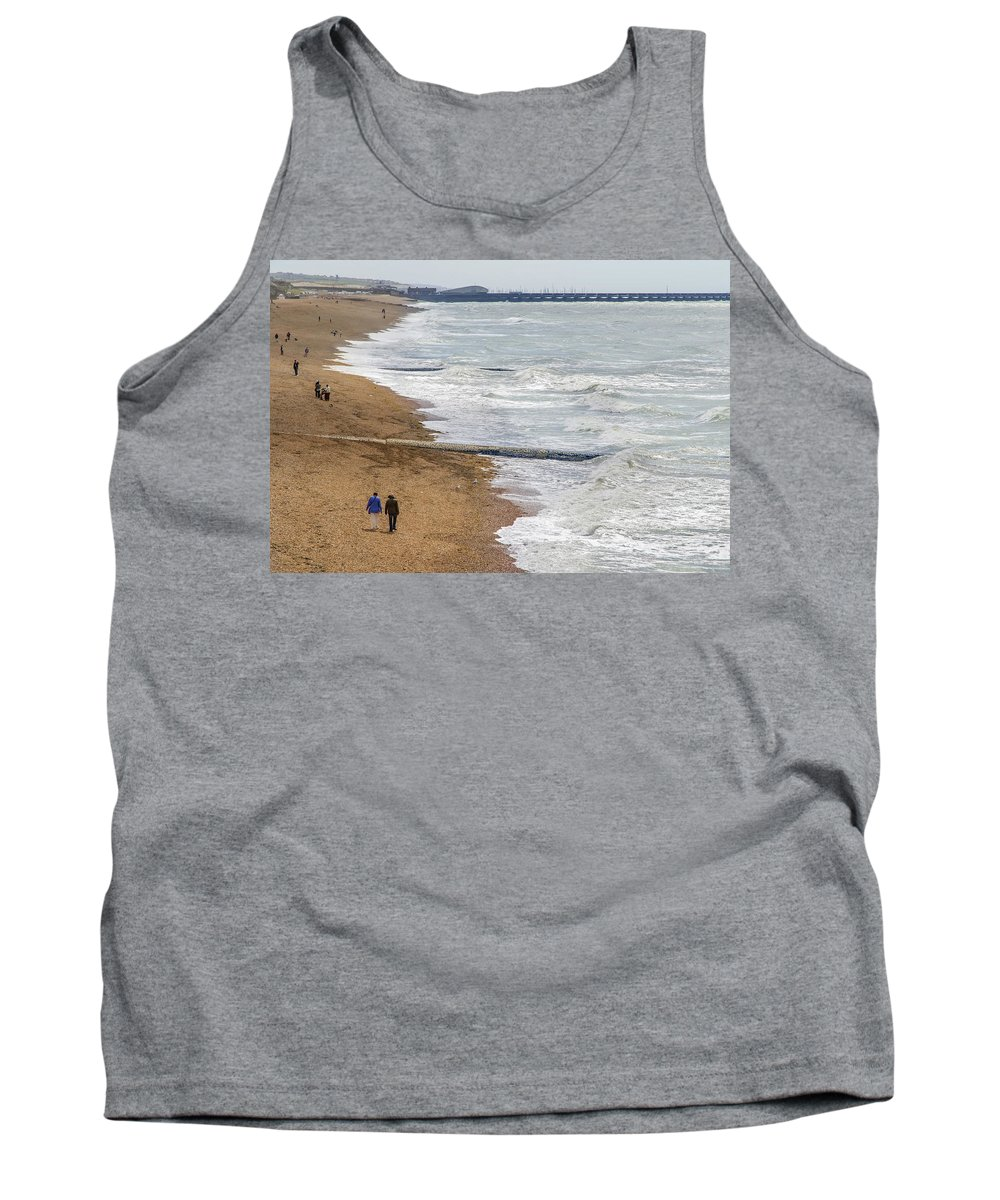 English Channel Tank Top featuring the photograph Brighton Shore by Keith Armstrong