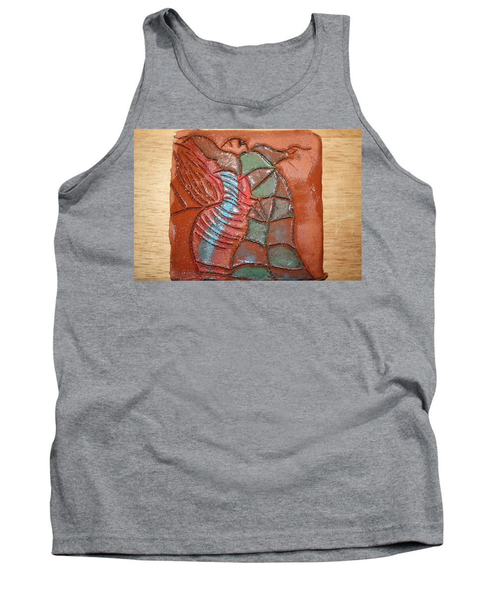 Jesus Tank Top featuring the ceramic art Brightspot - Tile by Gloria Ssali