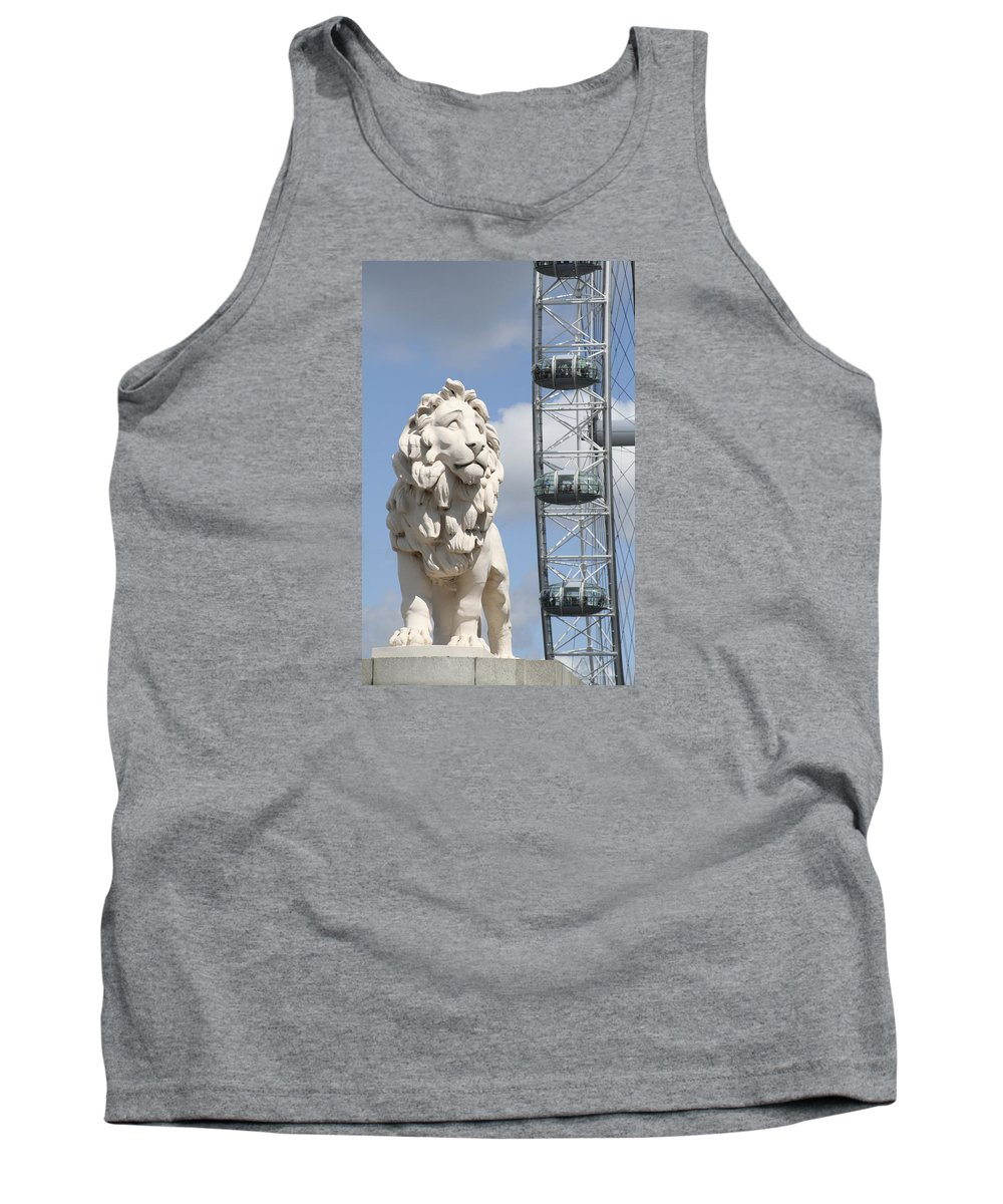 Lion Tank Top featuring the photograph Britannia Lion by Margie Wildblood