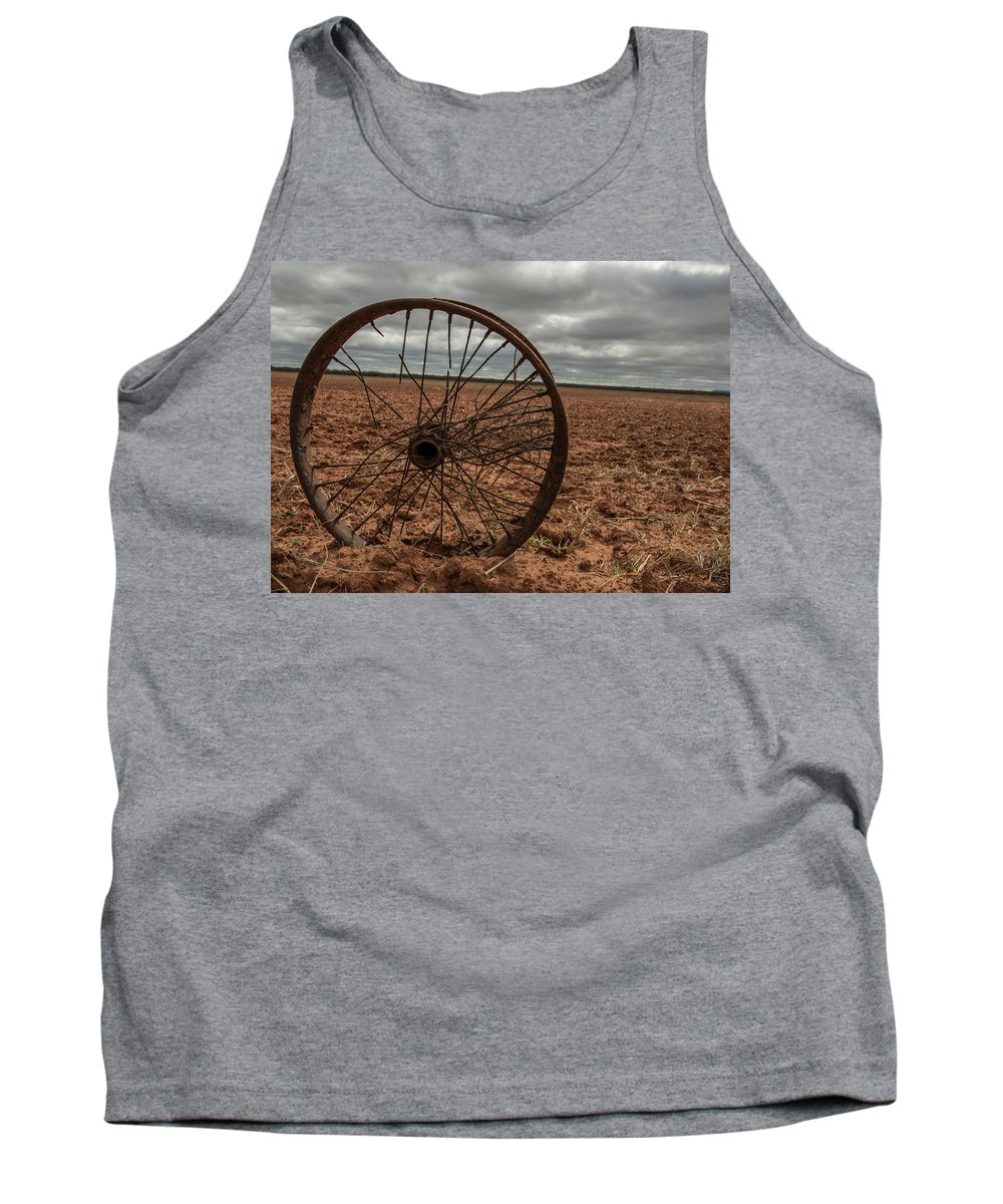 Wheel Tank Top featuring the photograph Broken Spokes by Kevin McCollum