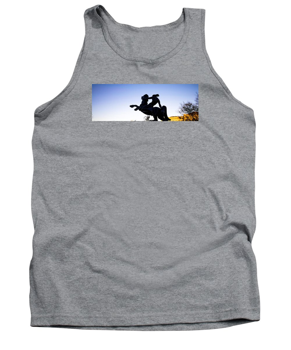 Statue Tank Top featuring the photograph Bronco by Mike Dunn
