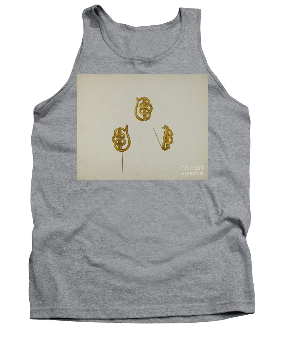 Tank Top featuring the drawing Brooch by Peter Connin