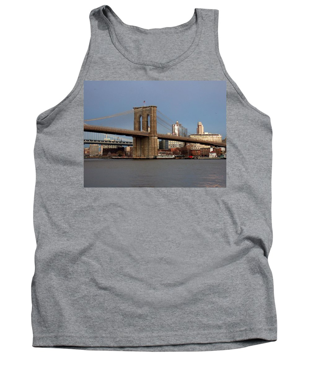 Brooklyn Bridge Tank Top featuring the photograph Brooklyn Bridge by Anita Burgermeister