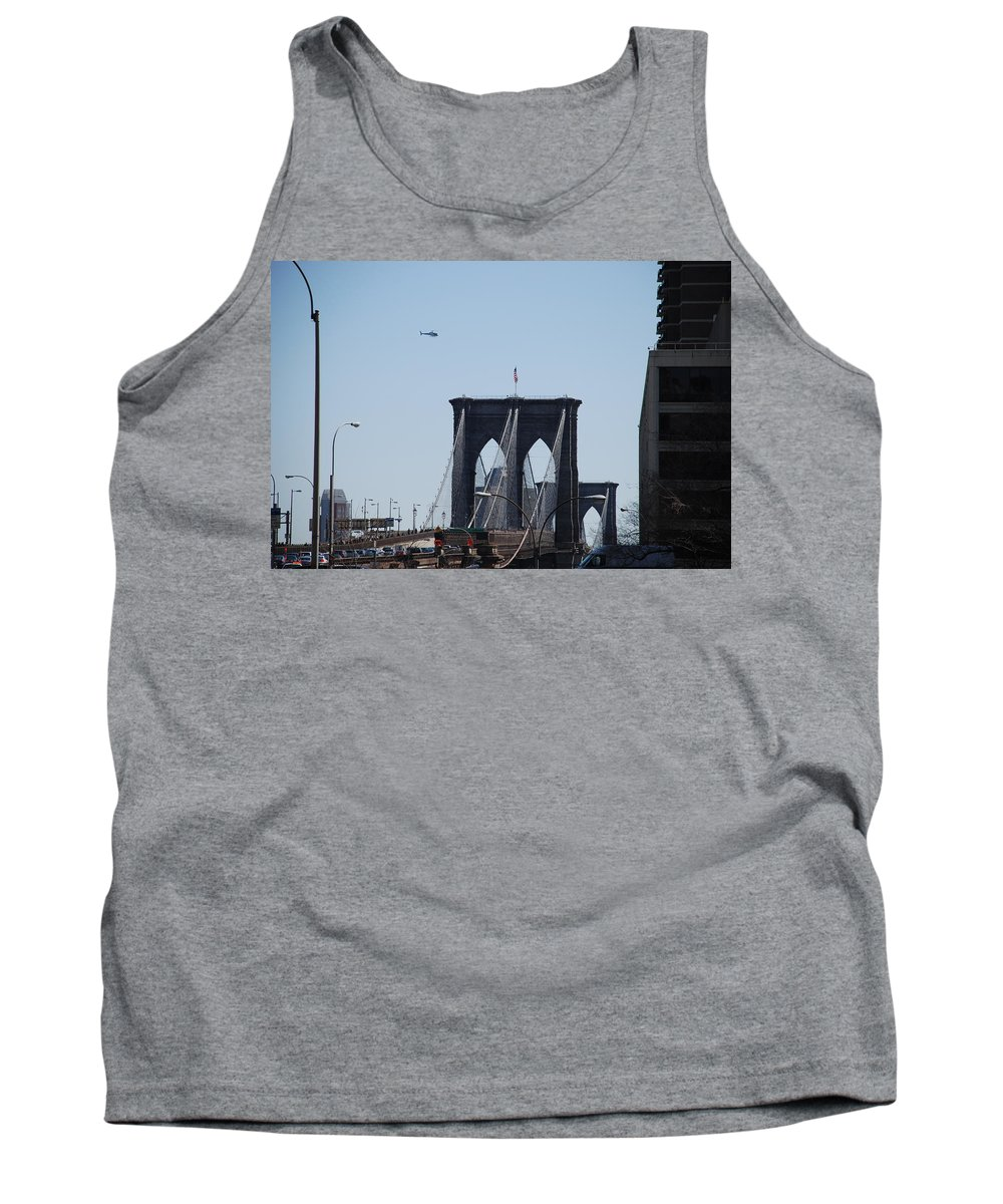 Architecture Tank Top featuring the photograph Brooklyn Bridge by Rob Hans