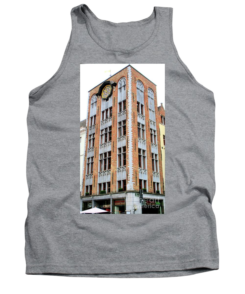 Bruges Tank Top featuring the photograph Bruges Markt 1 by Randall Weidner
