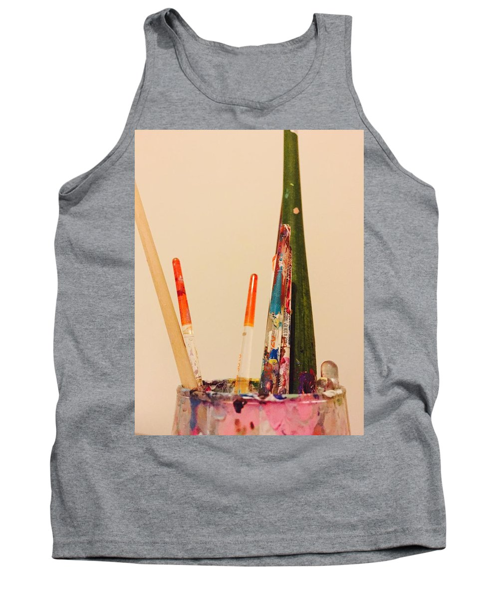 Paint Brushes Tank Top featuring the photograph Brushes Of An Artist by David Martin Stevens